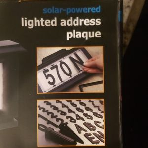 Accents - NEW Solar Lighted Address Plaque